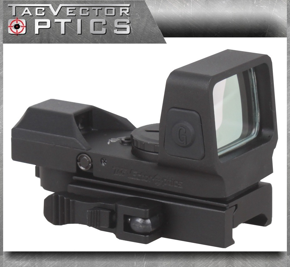 Vector Optics Sable 1X25X34 Tactical 4 Reticle Green Red DOT Sight