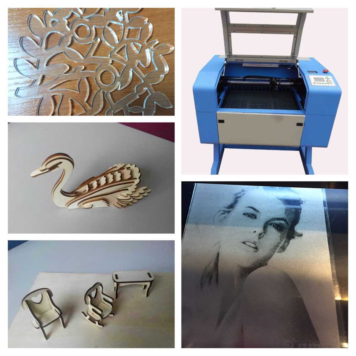 Acrylic Glass Paper Wood Rubber CO2 Mini Laser Engraving Machine