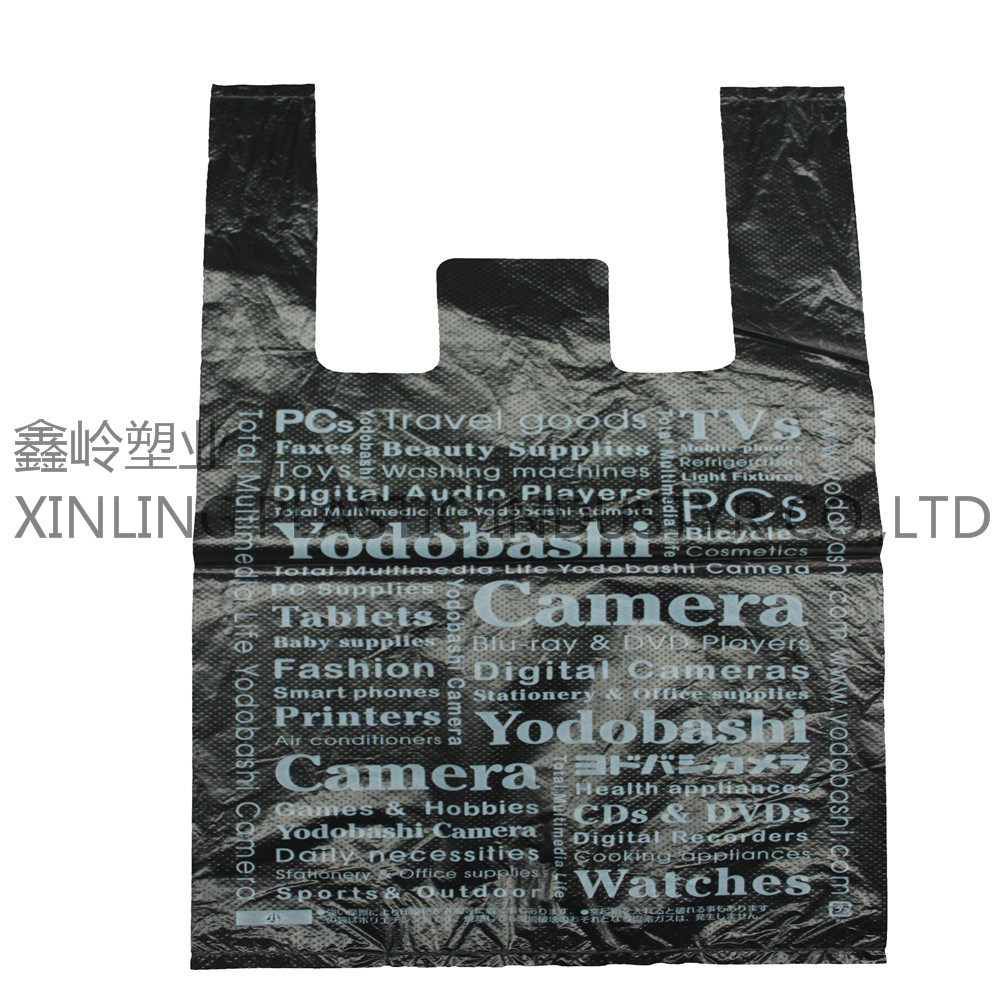 Custom Printed Plastic T-Shirt Bags for Shopping
