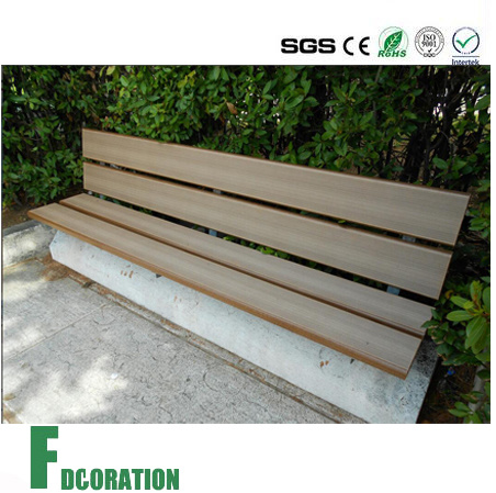 Shield / Co-Extrusion WPC Decking on Park Bench