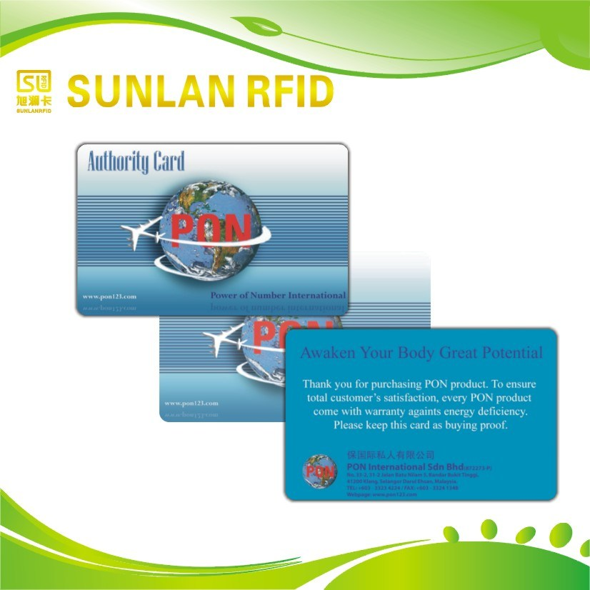 OEM ISO Cr80 Plastic RFID Smart Card Manufacturer with Offset /Silk Print