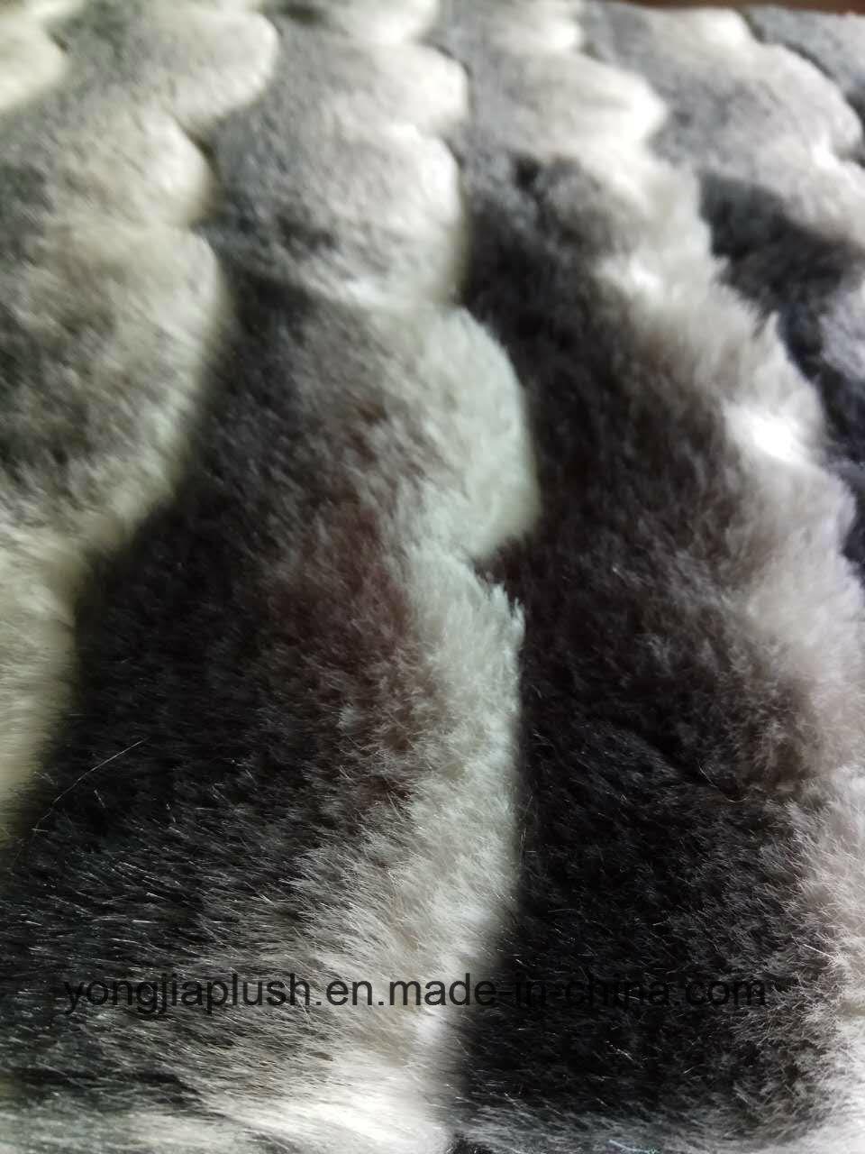 Wave Stripe Faux Fur
