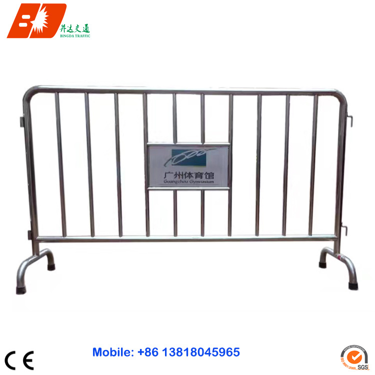 SUS Stainless Steel Removable Pedestrian Barrier Fence / Traffic Crowd Control Road Barrier for Sale
