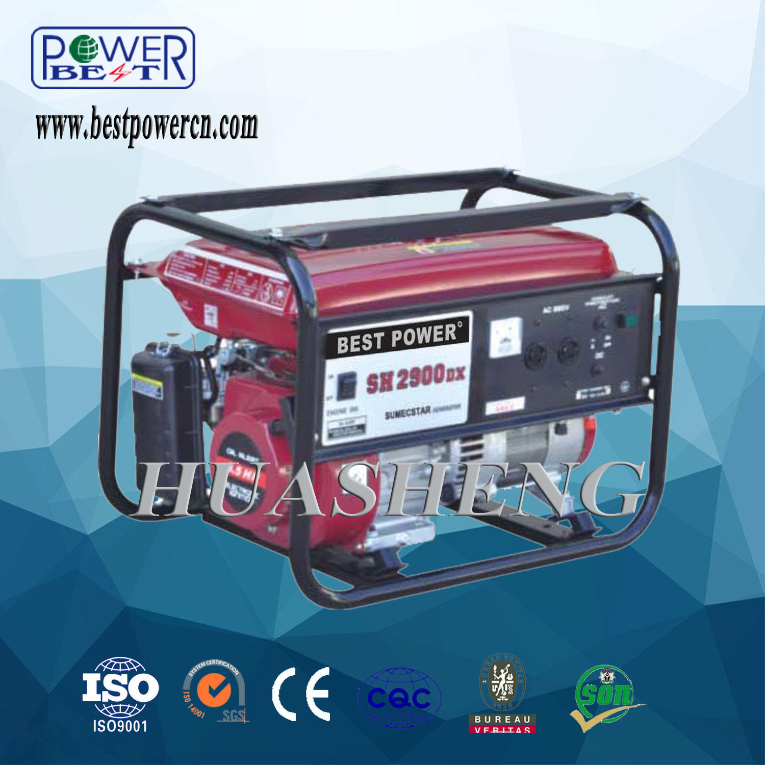 China 2 5kw Best Power AC Electric Portable Gasoline Generator