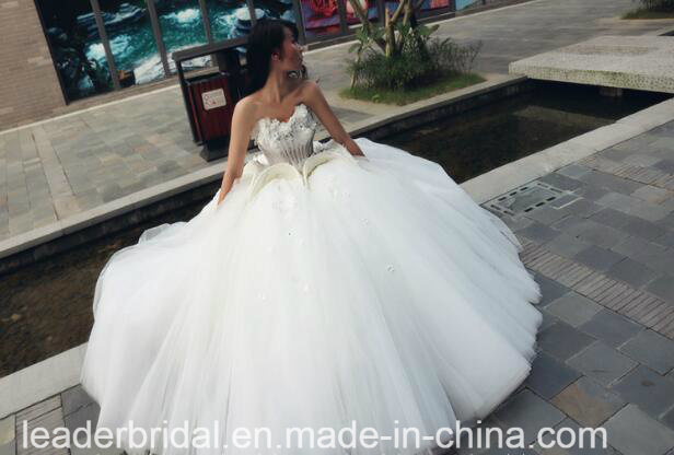 Floral Bridal Ball Gowns Beading Backless Wedding Dress 2018 Tb209