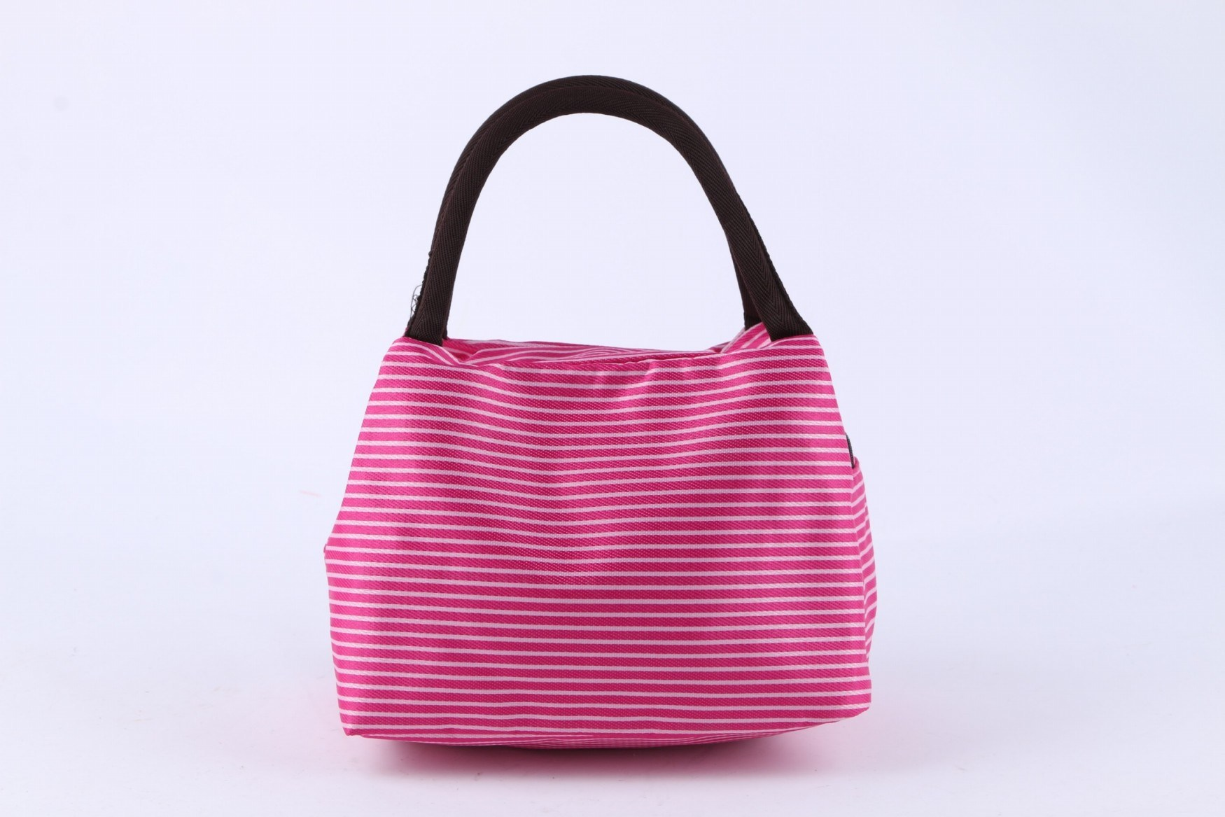Promotional Factory Direct Sale Pink Stripped Lunch Bag Handbag Fashion