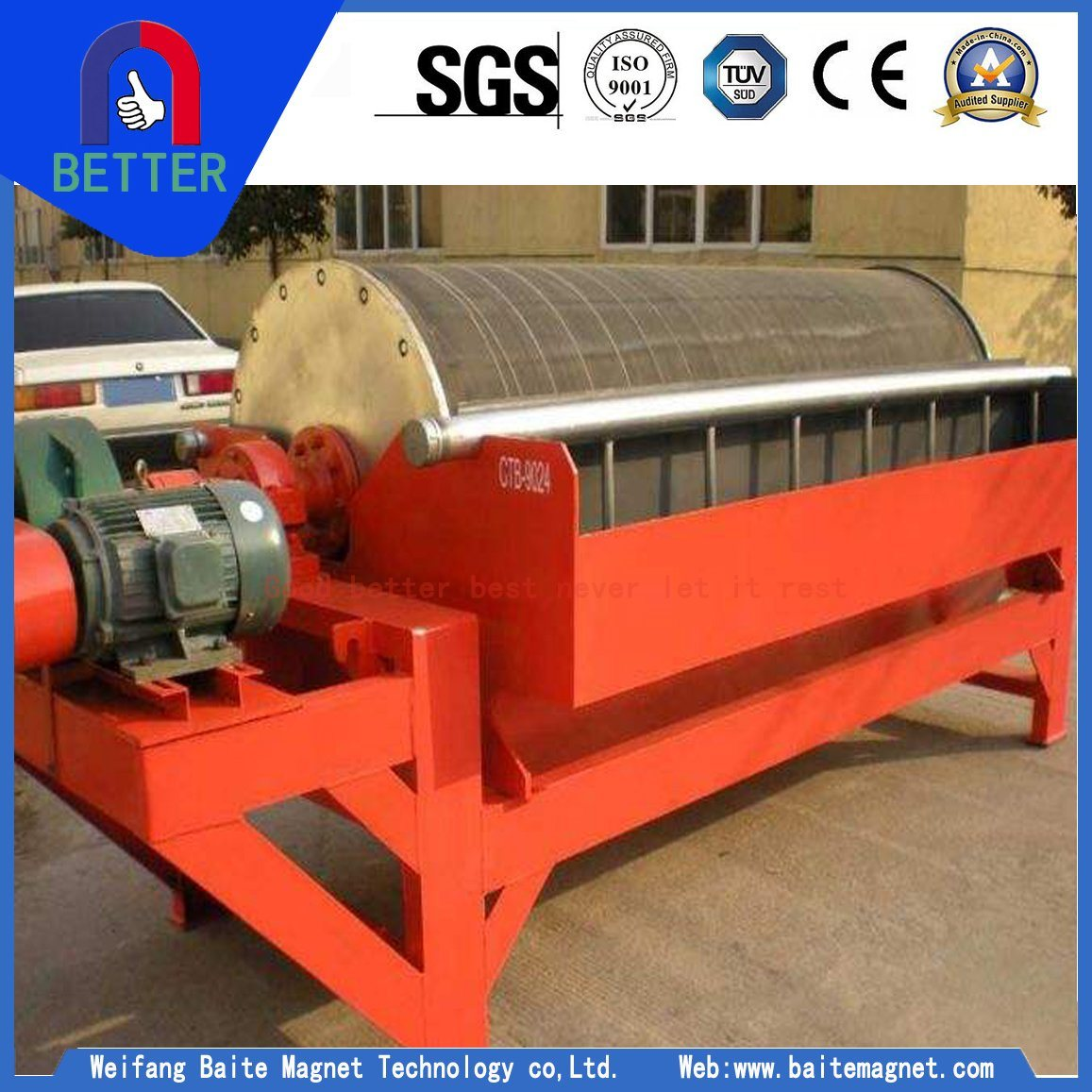 Automatic Sea River Sand Magnetic Separator Fot Iron Sea Sand Processing