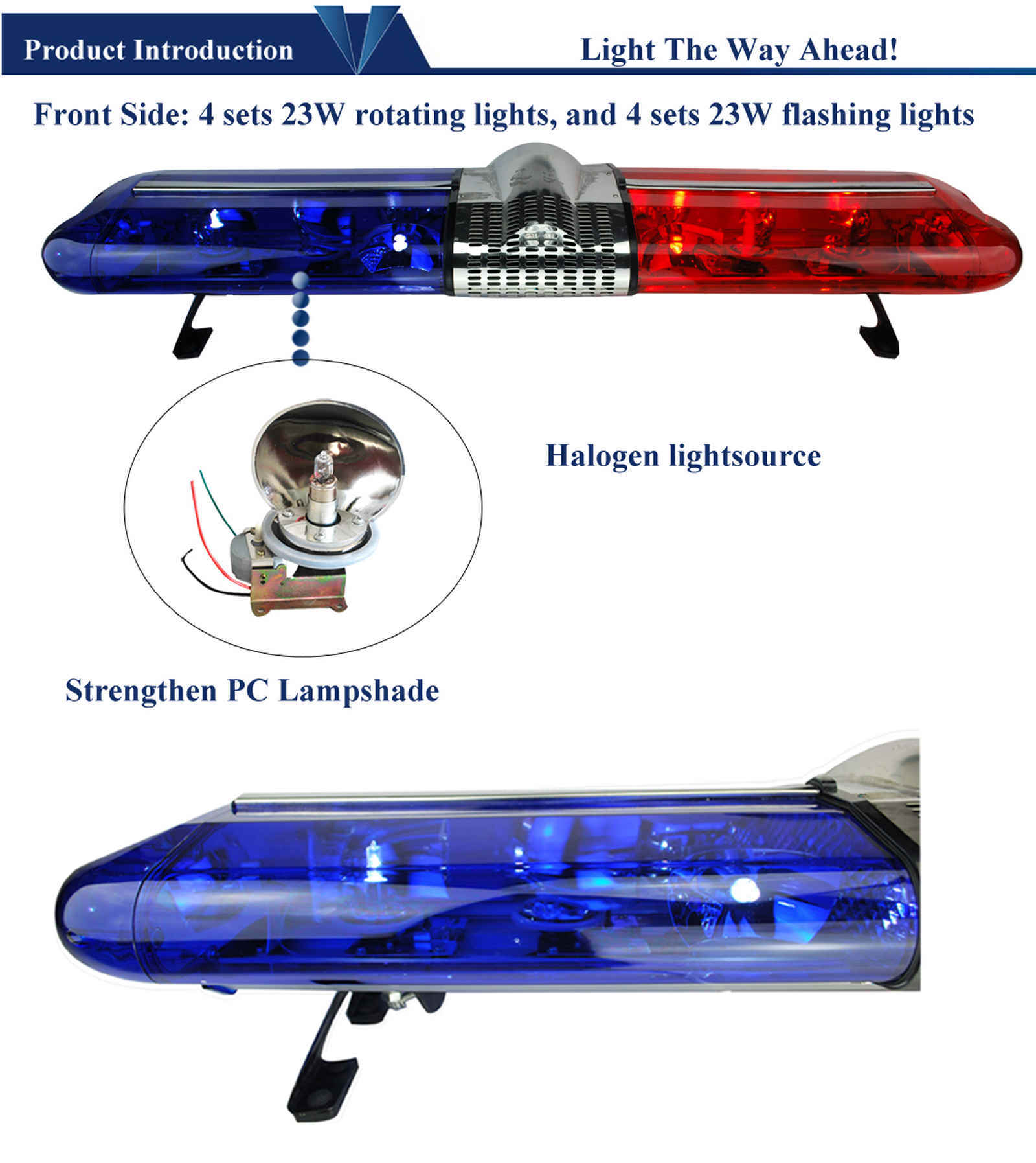 Halogen Rotating Warning Light Bar