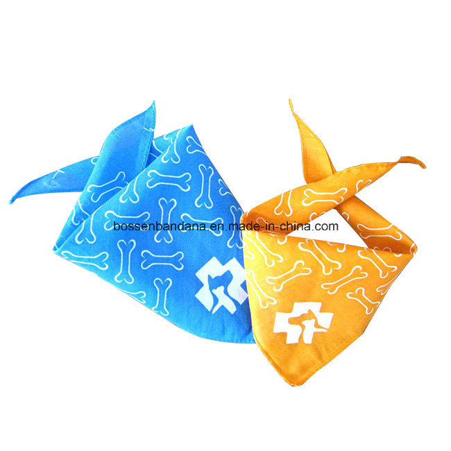 OEM Produce Customized Logo Printed Promotional Cotton Triangle Pet Scarf