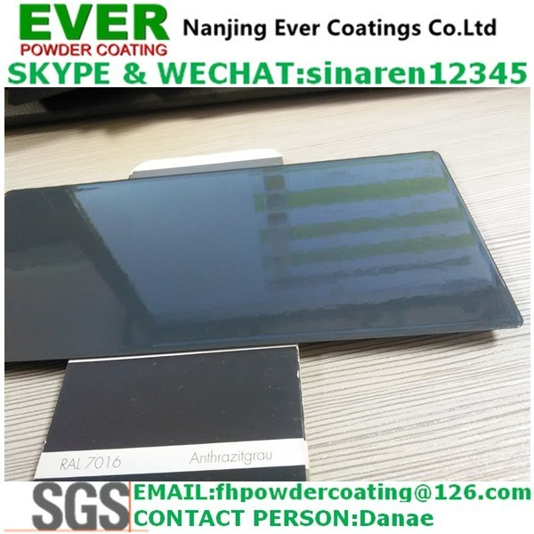 China Smooth Glossy Anthracite Grey Color Ral7016 Powder Coating ...