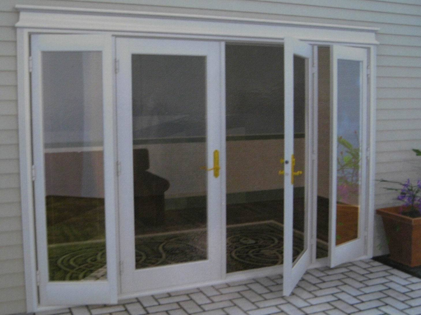 China aluminium french doors china aluminum french door for Patio doors with side windows