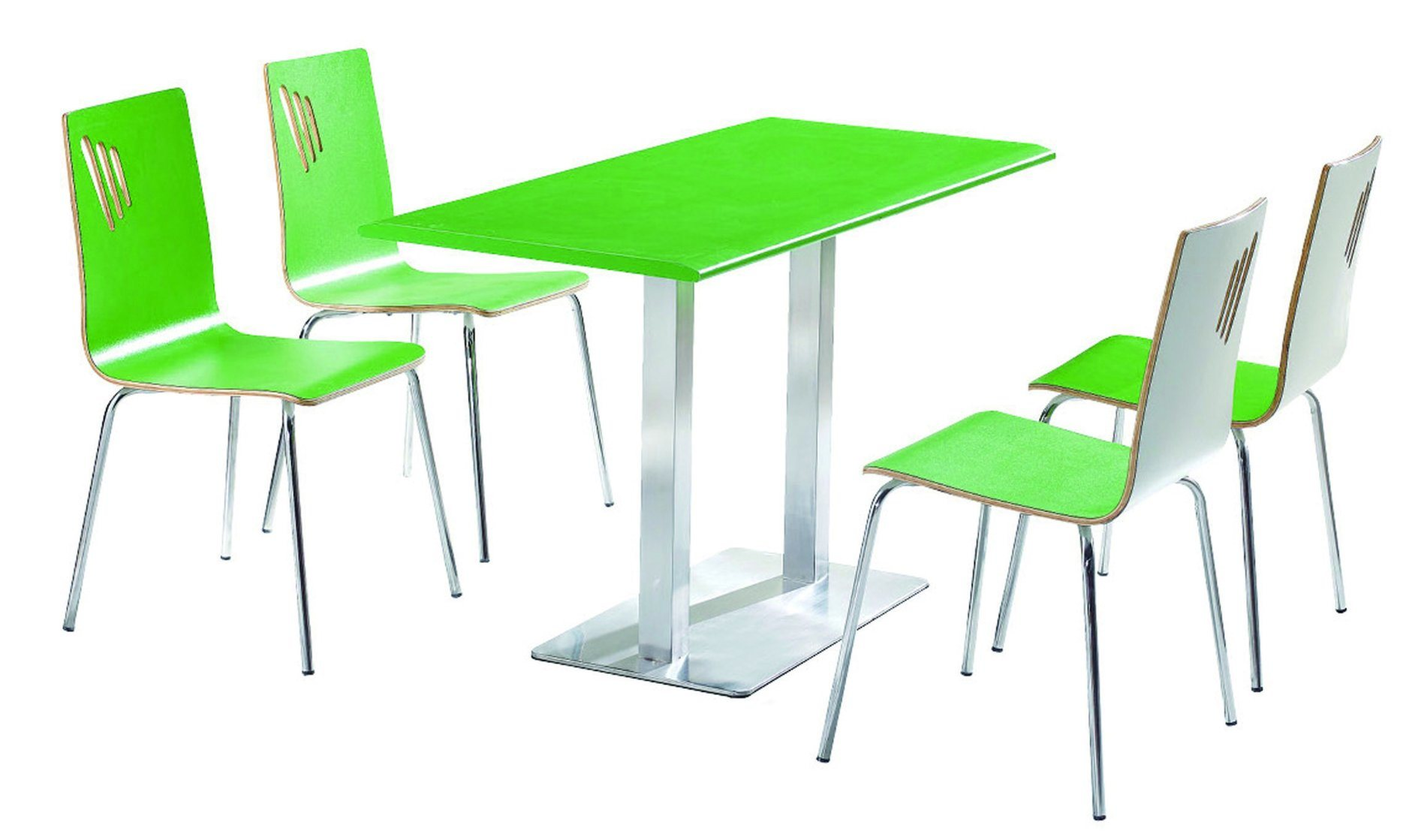 4 Seats Dining Table and Chair Canteen Table Fast Food Table with Chairs