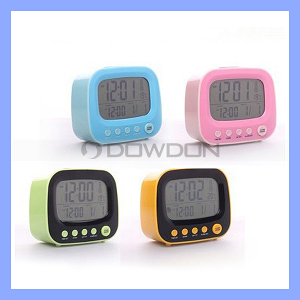 3 in 1 French TV Table Clock Alarm Clock with Night Light+ Calendar+Thermometer (CLOCK-001)