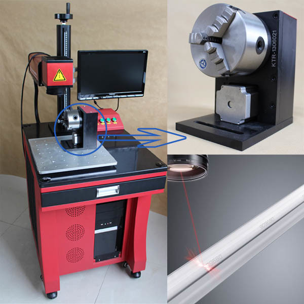 Factory Fiber Laser Engraving Machine with Rolling Chuck