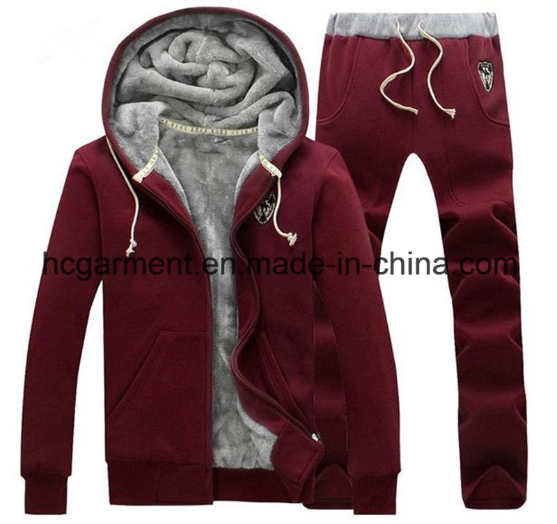 Customer Sports Wear Outdoor Clothing Winter Hoodie Suit /Tracksuit for Man/Women