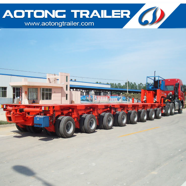 Hydraulic System 100-400 Tons Heavy Duty Modular Semi Trailer for Sale