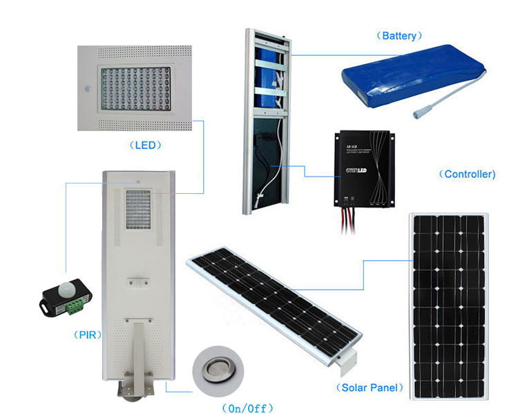 5 Years Warranty Solar Street Light Smart Integrated Solar Street Lights All in One