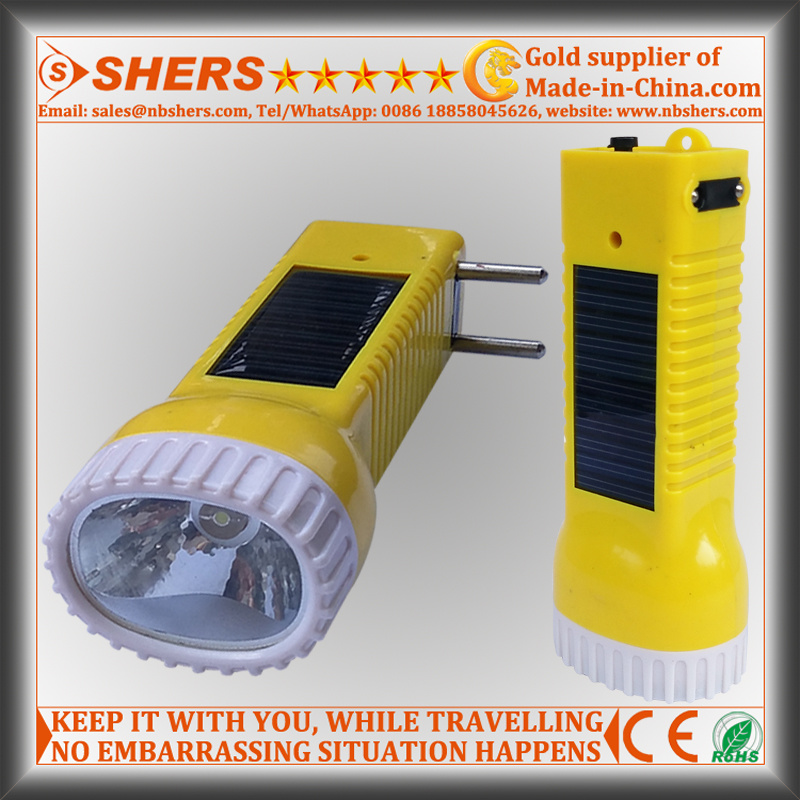 Solar Rechargeable 1W LED Flashlight for Searching, Hunting (SH-1934)