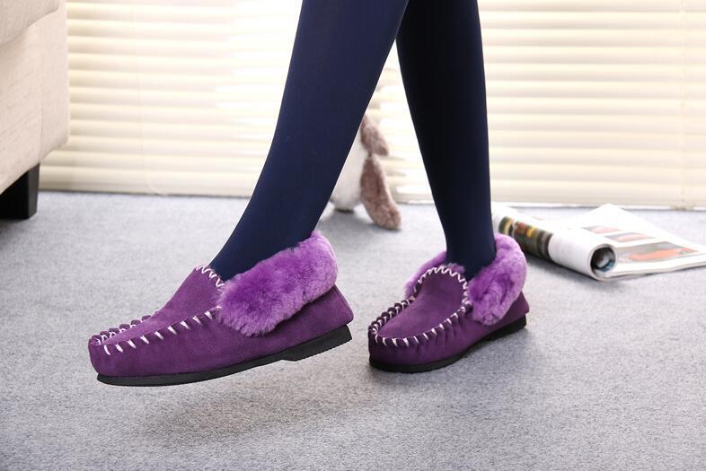 Classic Australian Sheepskin Casual Moccasin Shoes for Men and Women