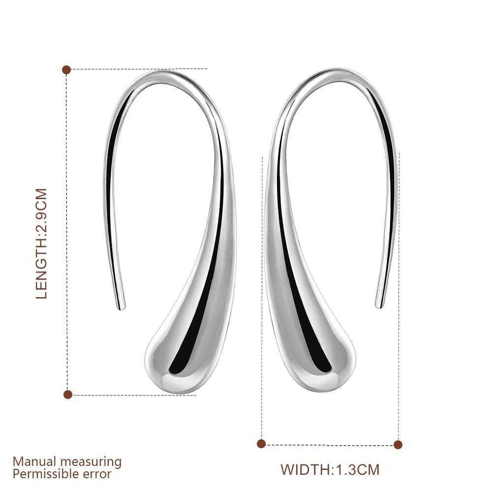 Hot Sale Simple Design Stealing Silver Earring Drop Shaped Earring Fashion Jewelry for Women