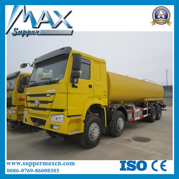 5000~25000 Liters Tri Axle / 3 Axle LPG Gas Tank Truck / Gas Storage Tank Truck