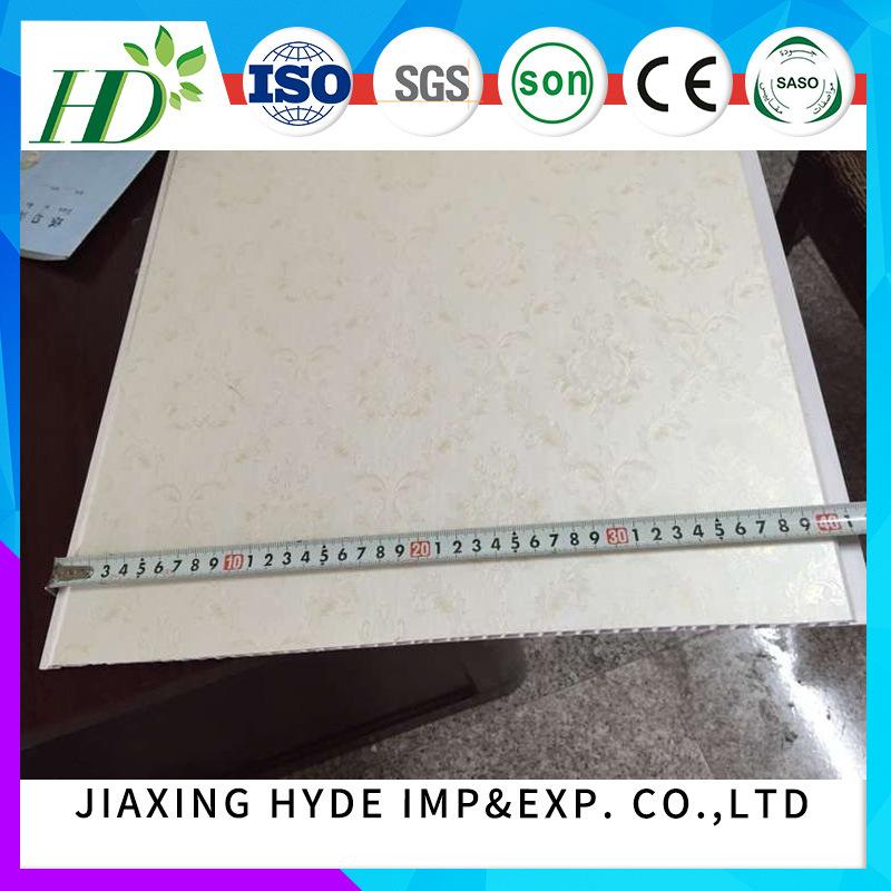 Saudi Arabia UAE Iraq Market 400*8mm PVC Wall Panel Decoration Tiles
