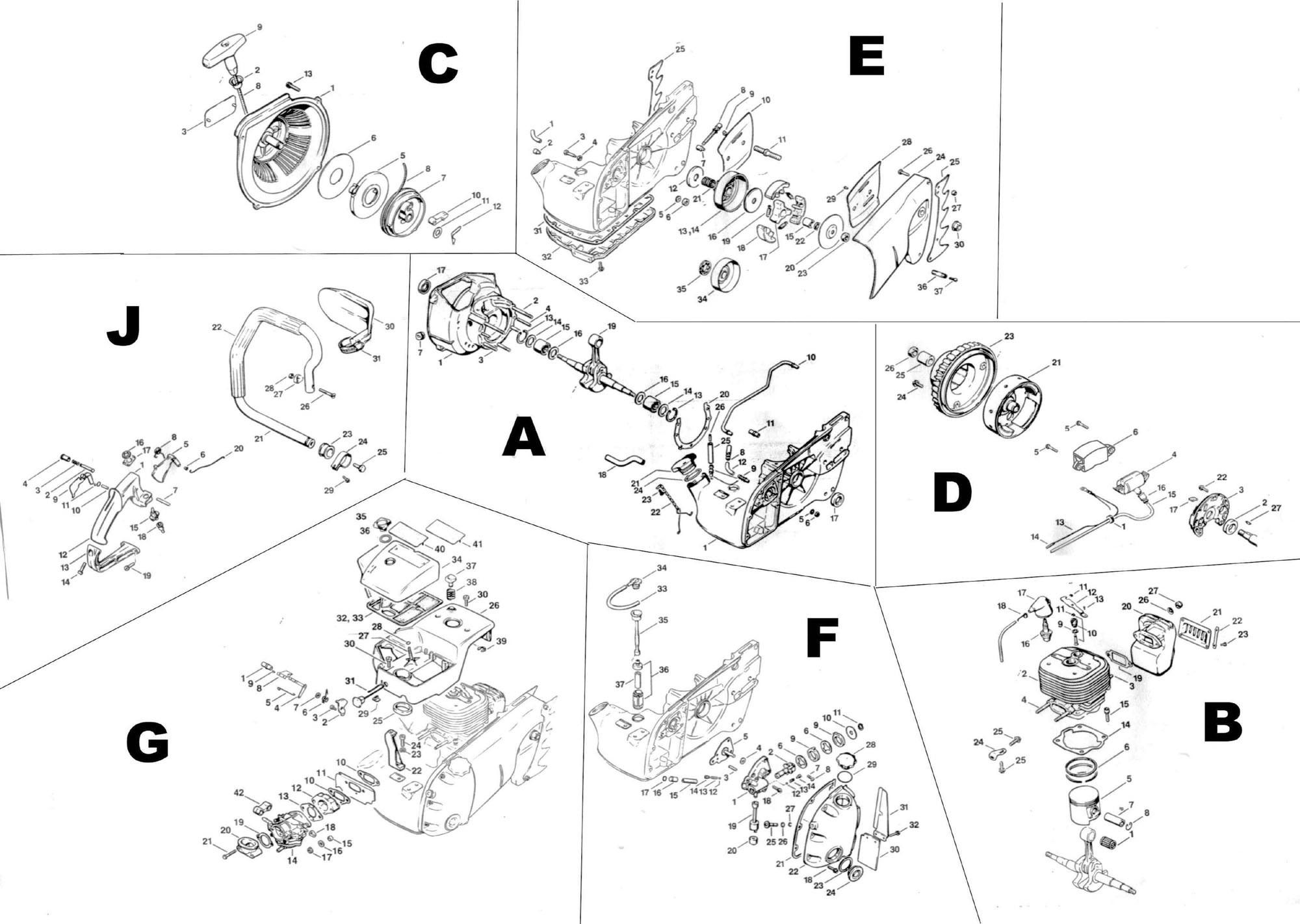 stihl 028 parts diagram stihl chainsaw workshop and