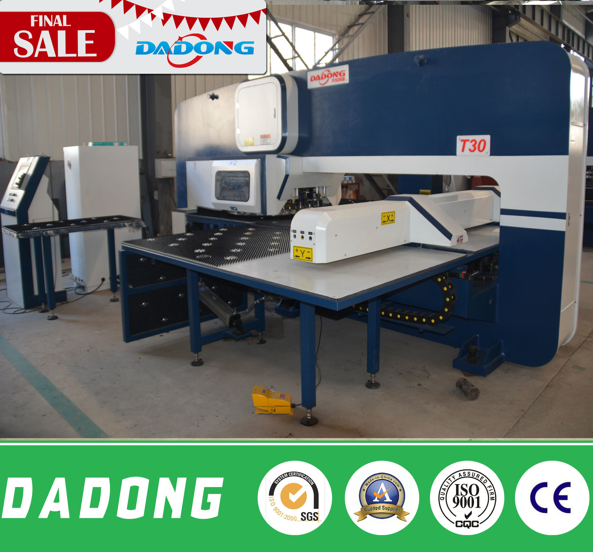 Hot Sale China High Precision T30 CNC Lathe Punch Press/Punch Holes