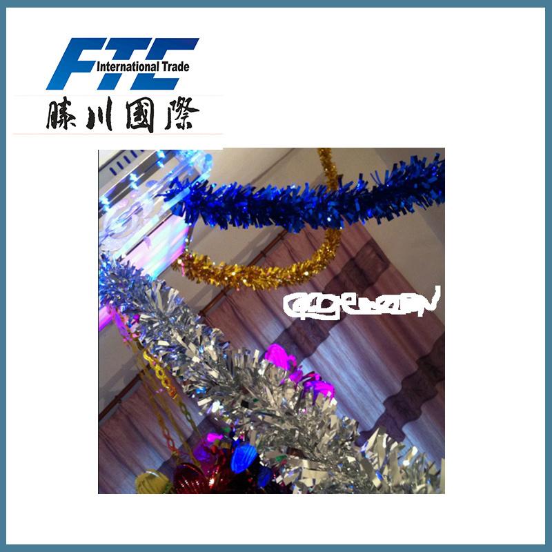 PVC Christmas Ornaments Tinsel for Christmas Decoration