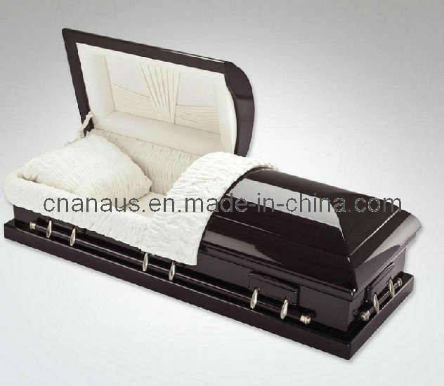 US Style Solid Mahogany Wood Casket (70H0014)