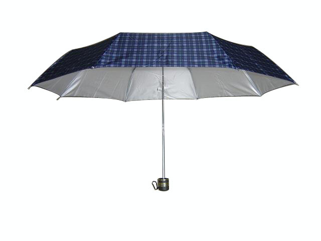 Anti-UV Manual Open 3 Folding Umbrella (3FU026)