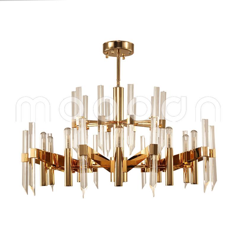 Modern Large Luxury Gold Color G9 LED K9 Crystal Chandelier