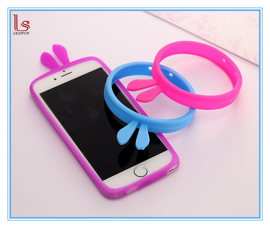 Fast Shipping Wholesale Universal Hand Rabbit Ears Cell Phone Case