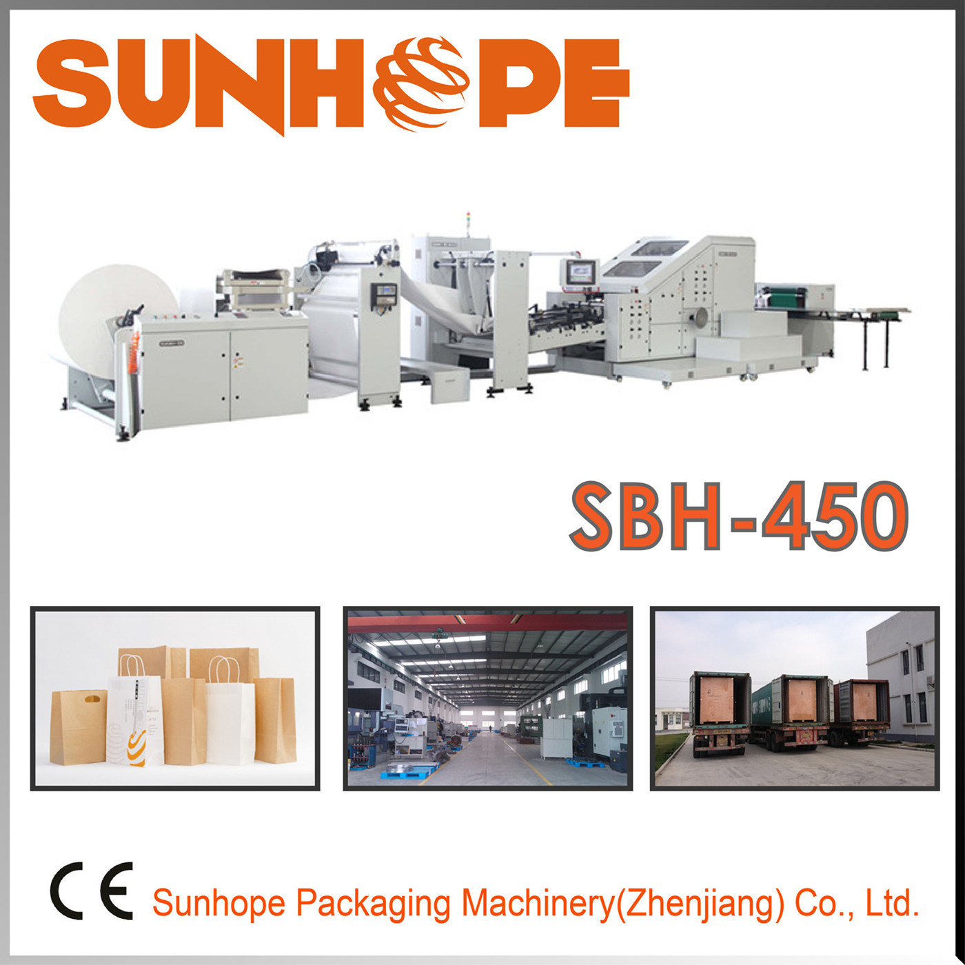 Sbh450 Paper Bag Making Machine