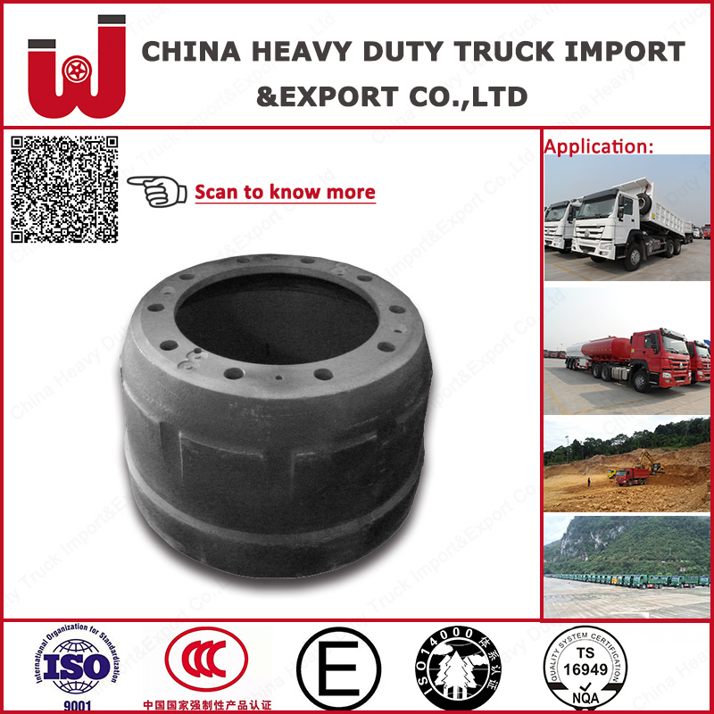 China Heavy Duty Truck HOWO Brake Drums (Az9112340006) Yutong Bus Front and Rear Brake Drum (3502-00423) (3502-00176) (3501-00988)