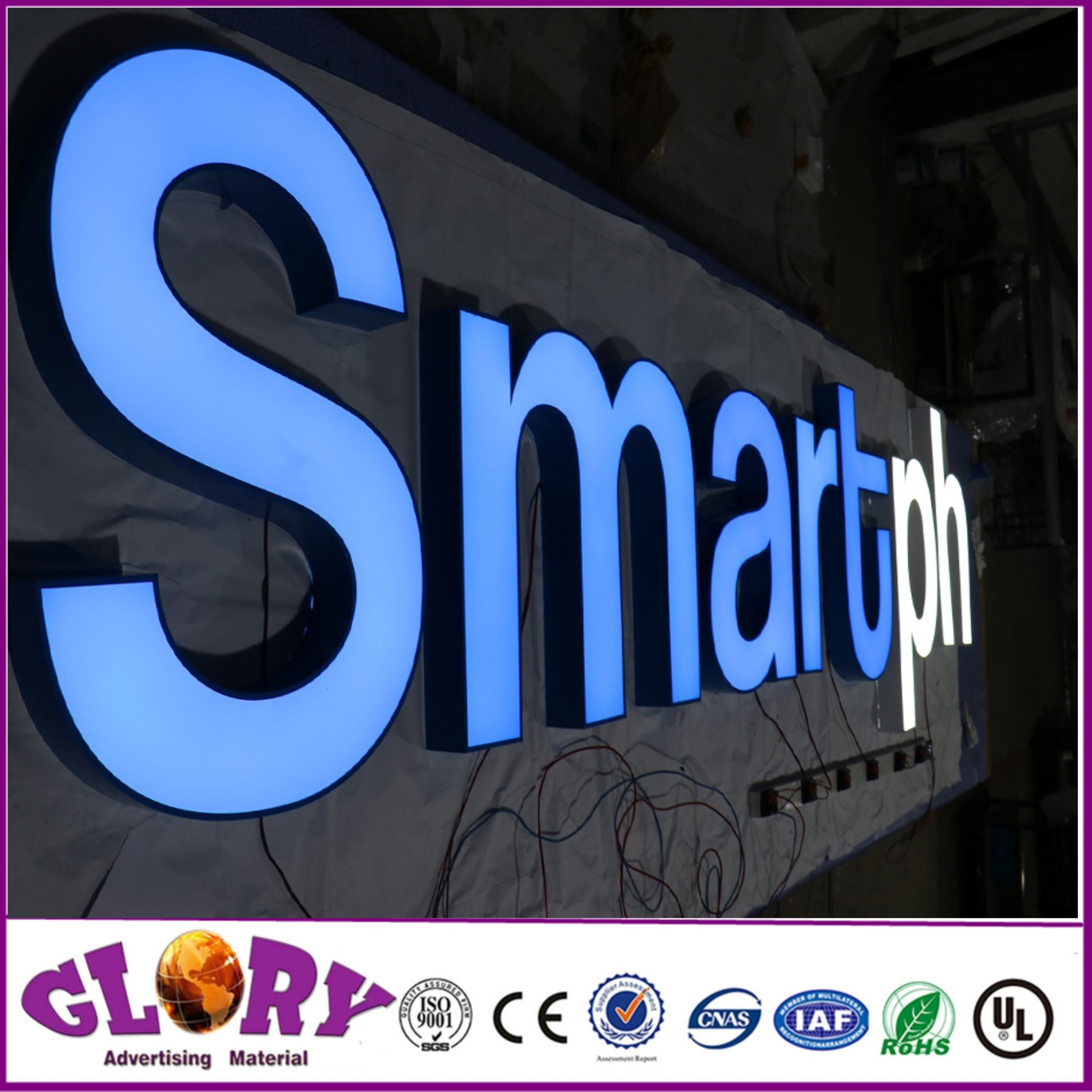 Brushed Ss Channel Letter Signboard and LED Sign