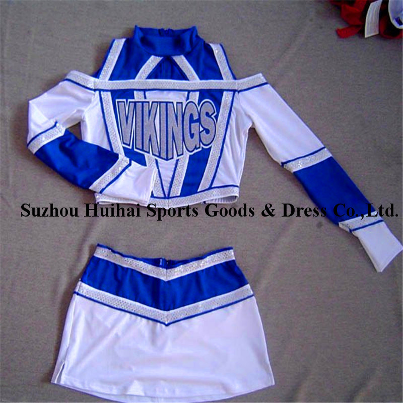 2017 Spandex Cheerleading Long Sleeve Uniforms