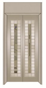 Passenger Elevator with Mirror Etching Stainless Steel
