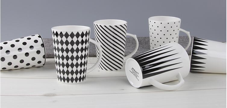 Wholesale 12oz Ceramic V Shaped Coffee Mug with Logo