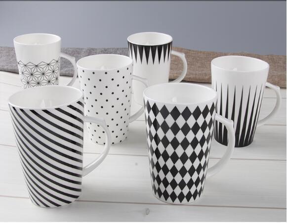 Wholesale 12oz Ceramic V Shaped Coffee Mug with Logo