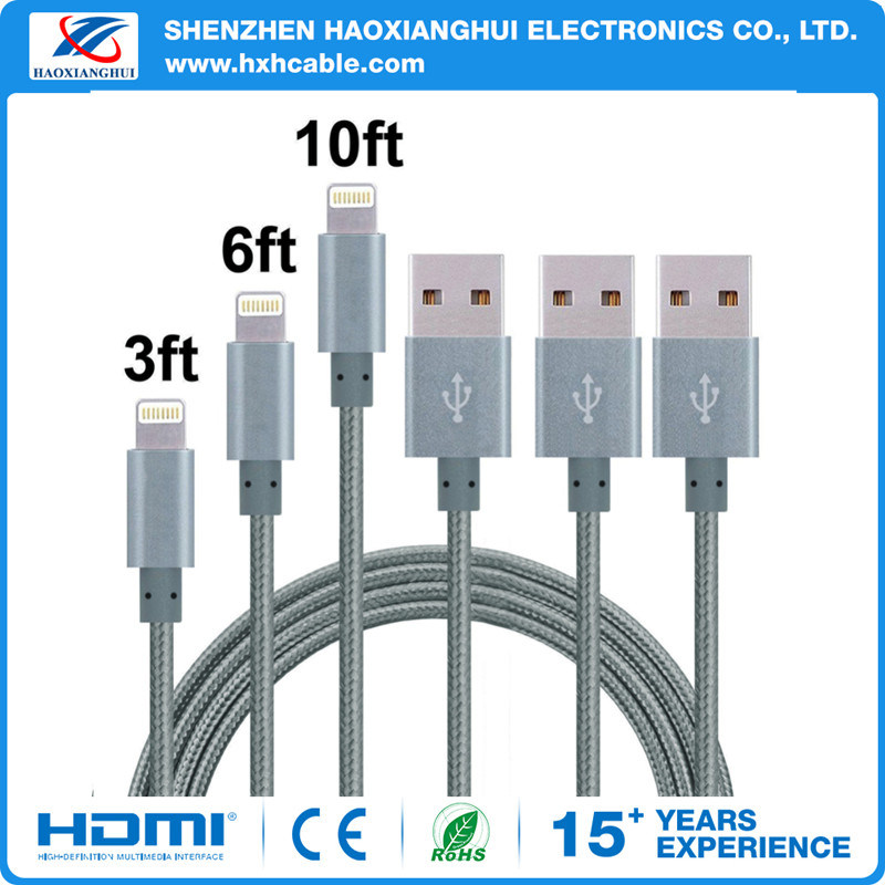 OEM Blue and Black Colour USB Cable Data Cable Mobile Phone Accessories