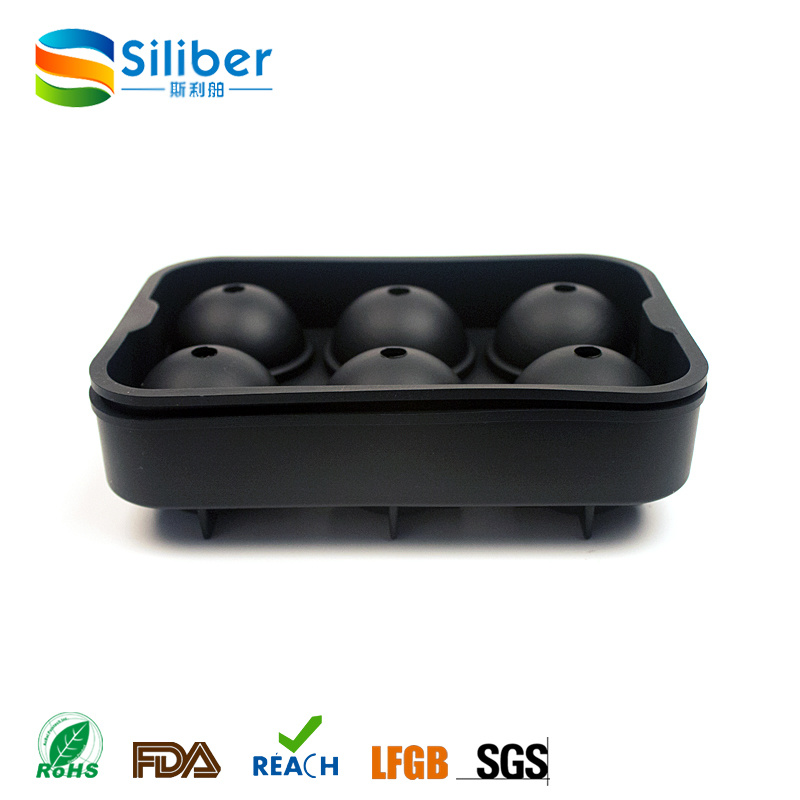 Amazon Hot Seller 6 Cells Round Ball Ice Sphere Tray