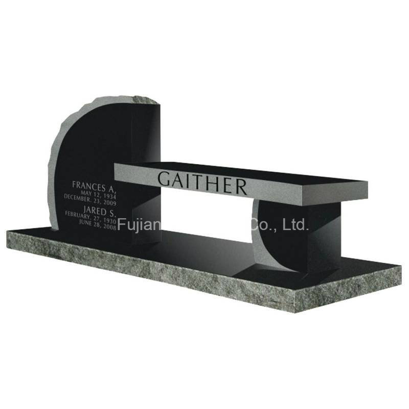 Granite Stone Cross Design Bench Monuments