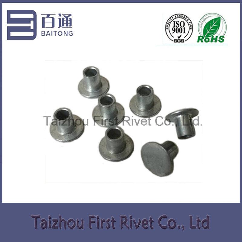 4X4.5mm Zinc Plated Flat Head Semi Tubular Steel Rivet