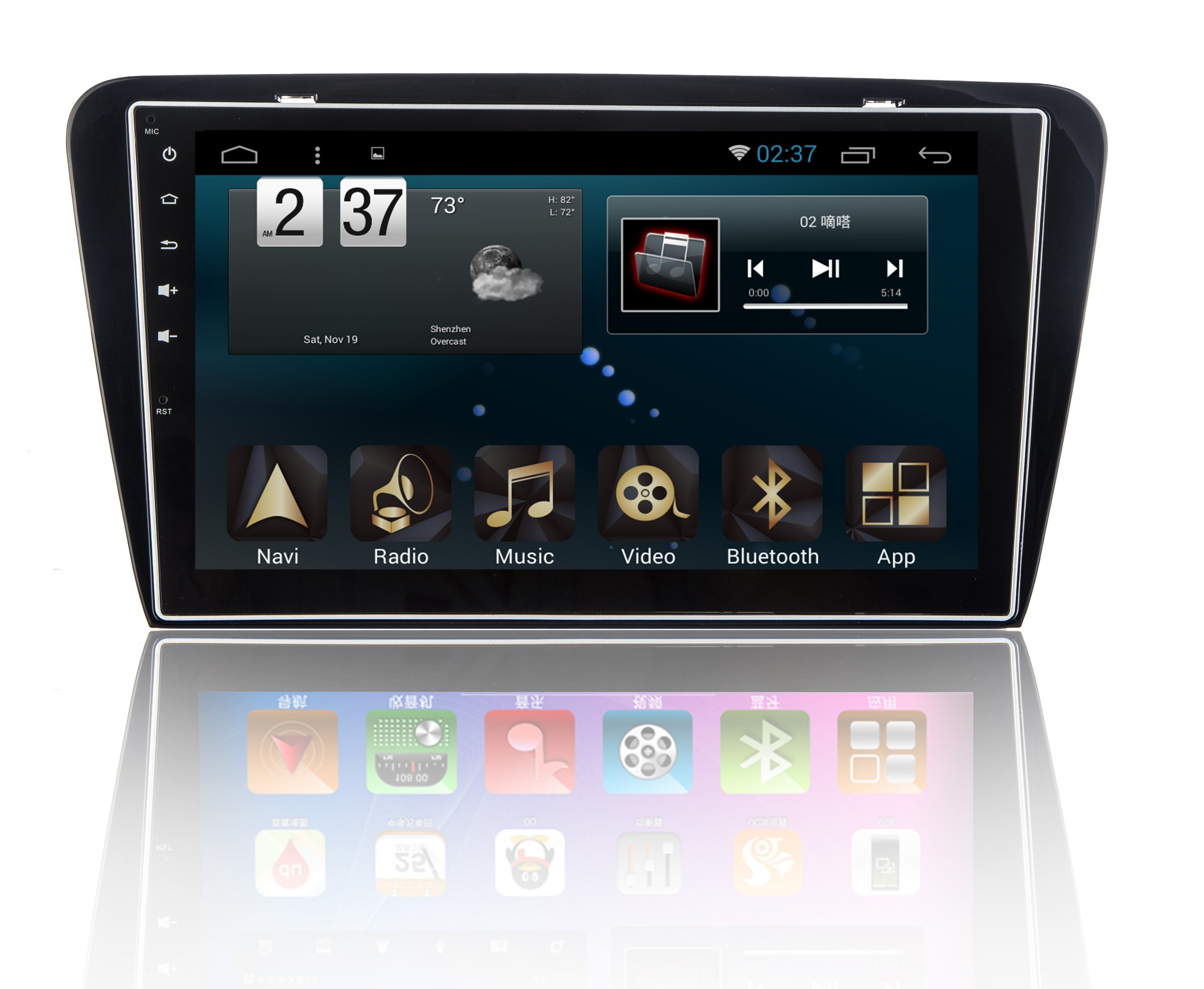 New Ui Android 6.0 System Car DVD Player for Skoda Octavia with Car GPS Navigation and