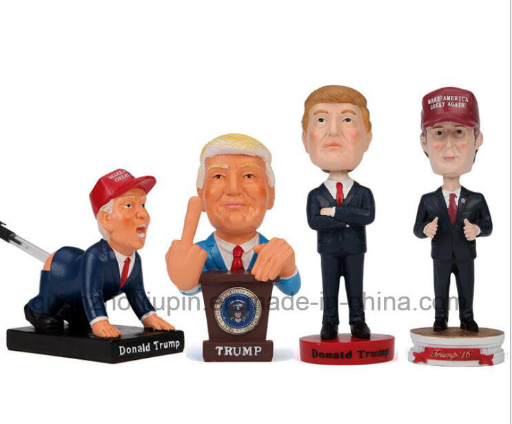 OEM Trump Bobble Head Resin Figures Craft for Promotion Souvenir