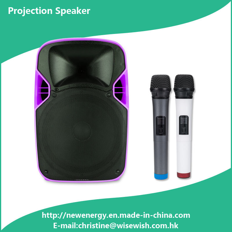 ODM Plastic PA System Wireless Speaker with LED Projector