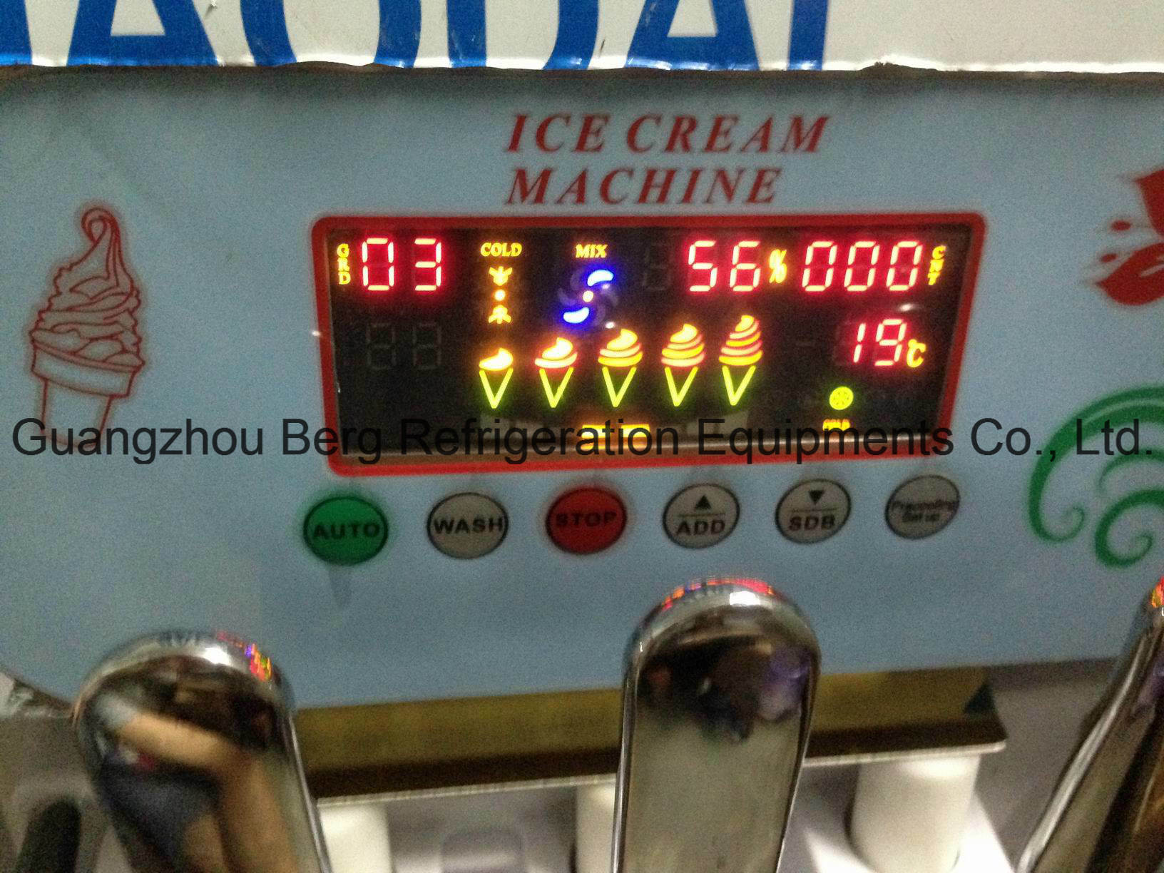 Factory Price 2+1mixed Flavours Soft Ice Cream Machine