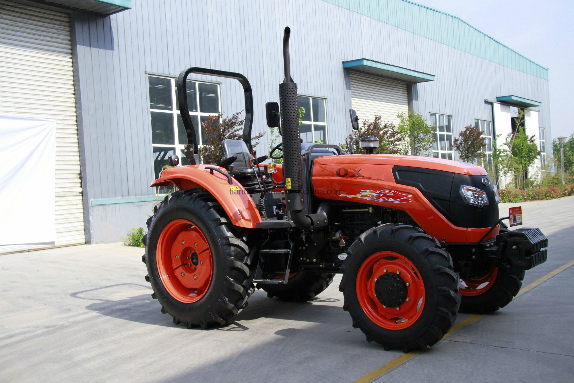 New 55HP Four-Wheel Driving Wheel Tractor with Diesel Engine Kubota Type (OX554)