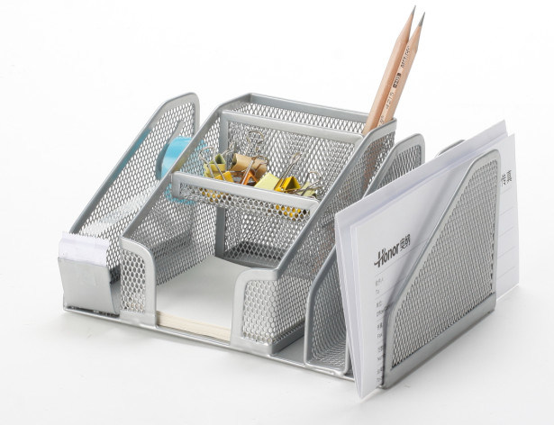 Metal Mesh Stationery Organizer/ Office Desk Accessories
